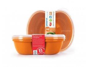 Preserve Svačinový box (2 ks) - oranžový ze 100% recyklovaného plastu