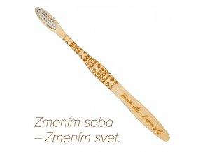 """Mobake Motivační bambusový kartáček - """"Zmením seba..."""" (extra soft)"""