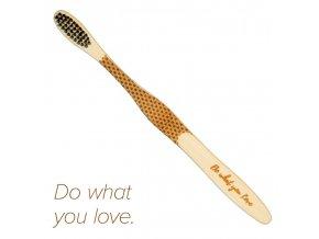 """Mobake Motivační bambusový kartáček - """"Do what..."""" (medium)"""