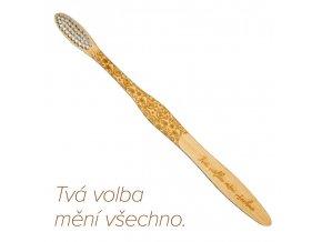 """Mobake Motivační bambusový kartáček - """"Tvá volba..."""" (extra soft)"""
