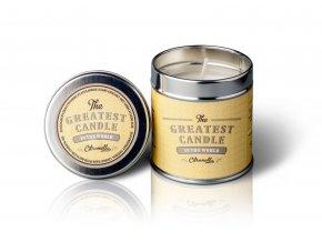 The Greatest Candle Vonná svíčka v plechovce (200 g) - citronela