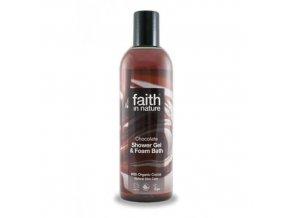 Faith in Nature 2v1 BIO čokoládový sprchový gel a pěna do koupele 250 ml