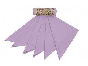 Kapesníky dámské – šeřík (28×28 cm) 6 ks