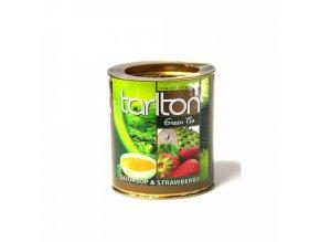 Tarlton zelený čaj JAHODA 100g