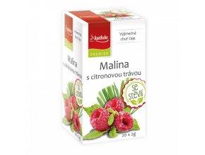 Apotheke PREMIER Malina s cit.trávou a stévií čaj 20x2g