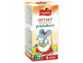 Apotheke Dětský čaj průduškový BIO 20x1,5g