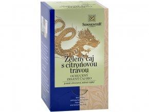 Bio Zelený čaj citronová tráva porc. dárkový 21.6g