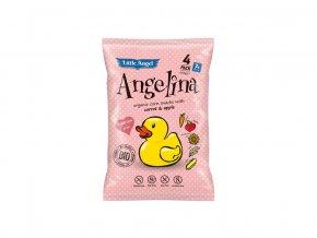 Bio Snack kukuřičný Angelina mrkev a jablko 4x15g