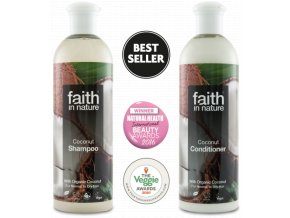 Faith in Nature BIO Vlasová sada Kokos 2x250 ml