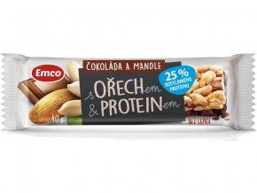 Tyčinka s ořechem a proteinem - čokoláda a mandle 40g