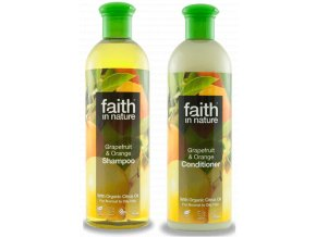 Faith in nature BIO Vlasová sada Grapefruit a pomeranč 2x250 ml