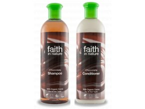 Faith in Nature BIO Vlasová sada Čokoláda 2x250 ml