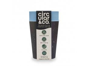 Circular Cup (227 ml) - černá/tyrkysová