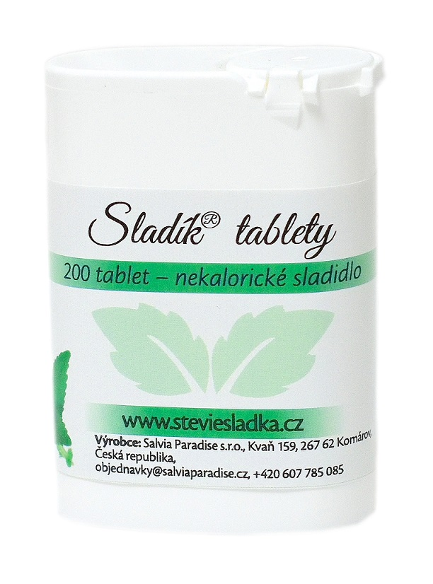 Sladík sladidlo - stévie sladká tablety Balení: 200 ks