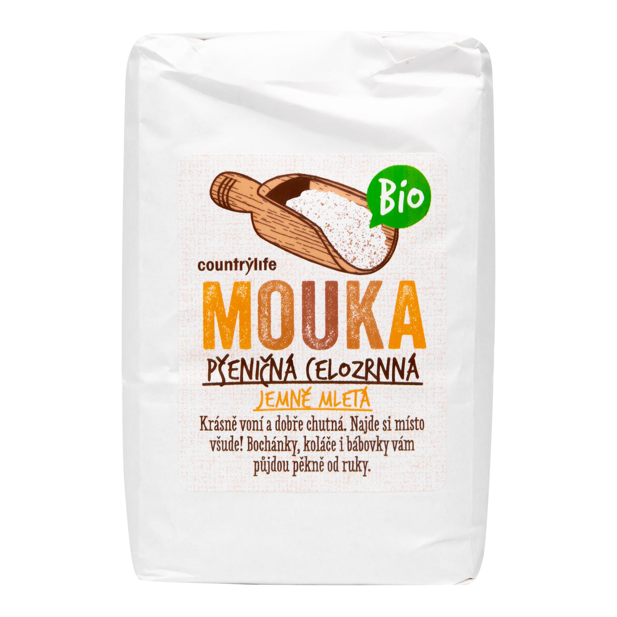 Mouka pšeničná celozrnná jemně mletá 1 kg BIO COUNTRY LIFE