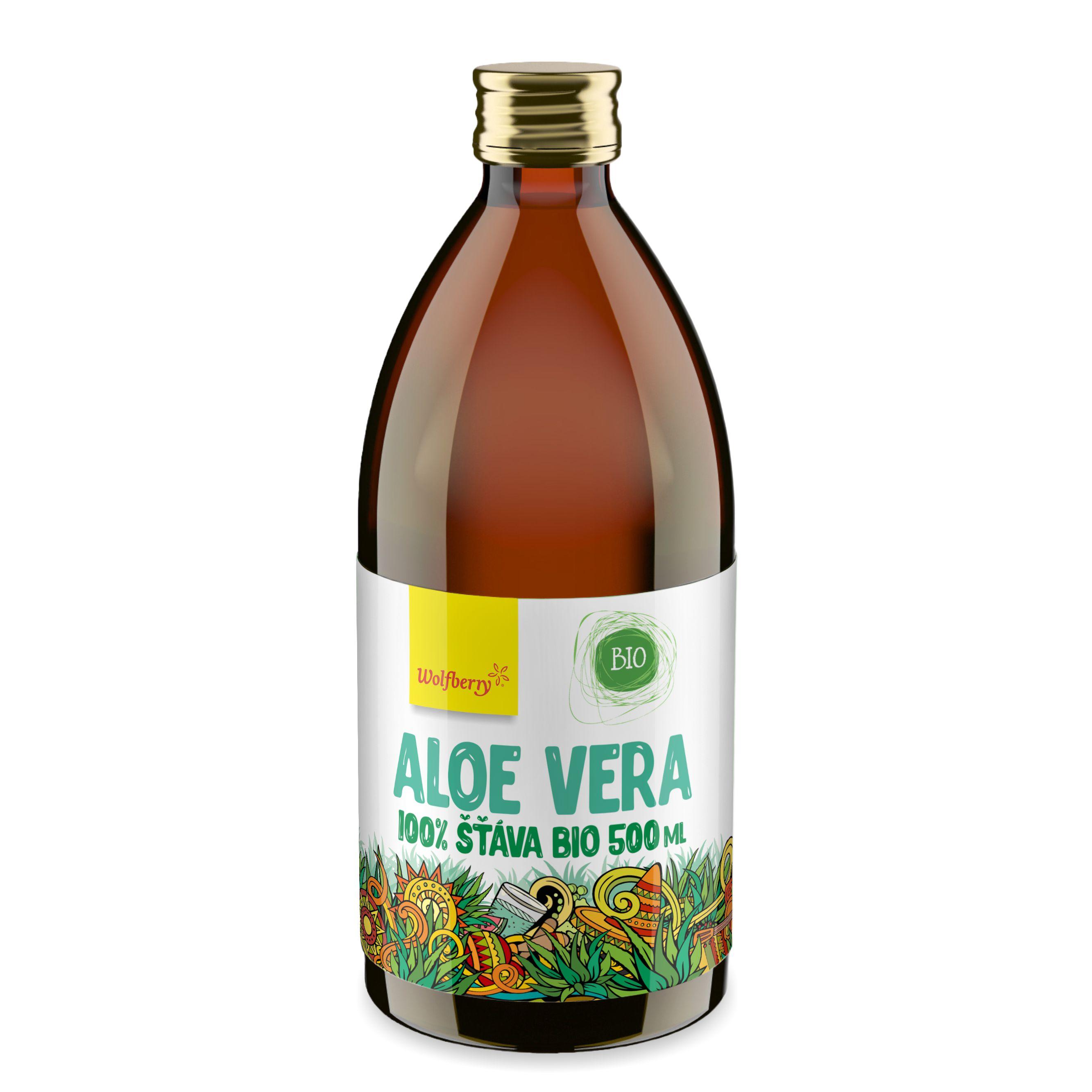 Aloe vera šťáva 100% BIO 500 ml Wolfberry