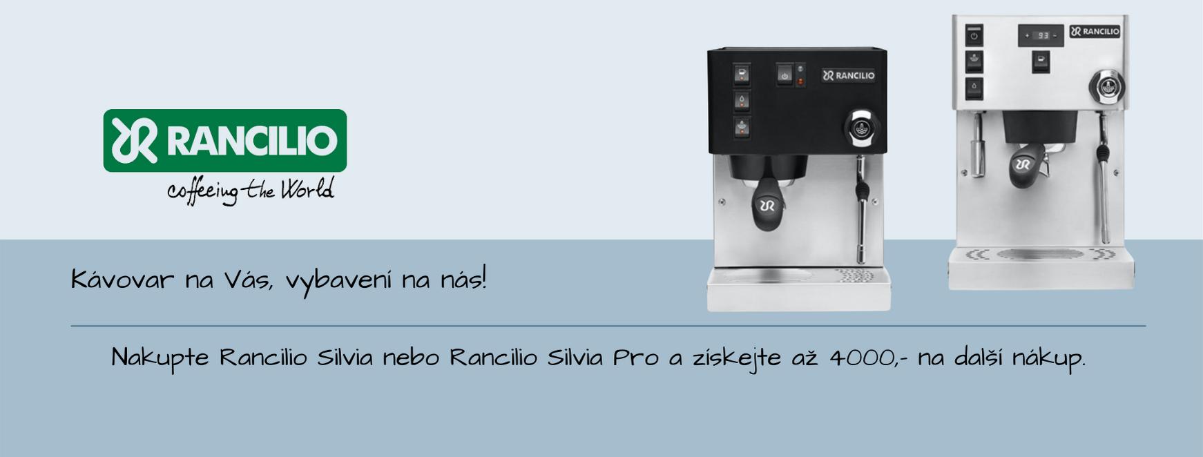 Zvýhodněná nabídka na koupi pákového kávovaru Rancilio Silvia