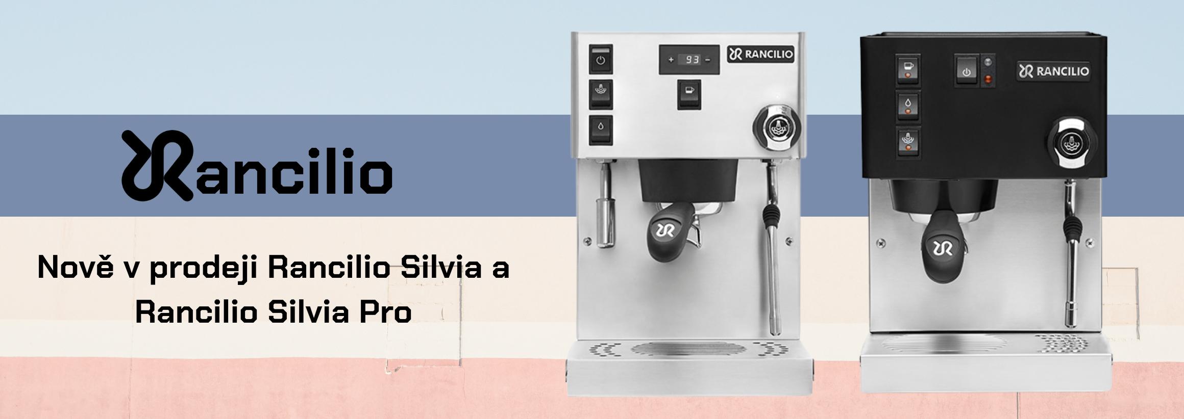 Nadupané kávovary Rancilio Silvia a Rancilio Silvia Pro nově v prodeji