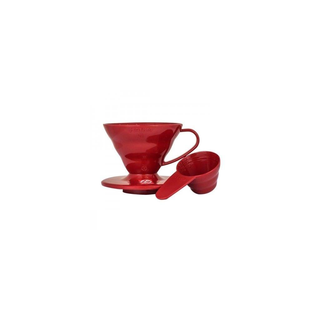 Dripper plastový - Hario V60-01 (červený)