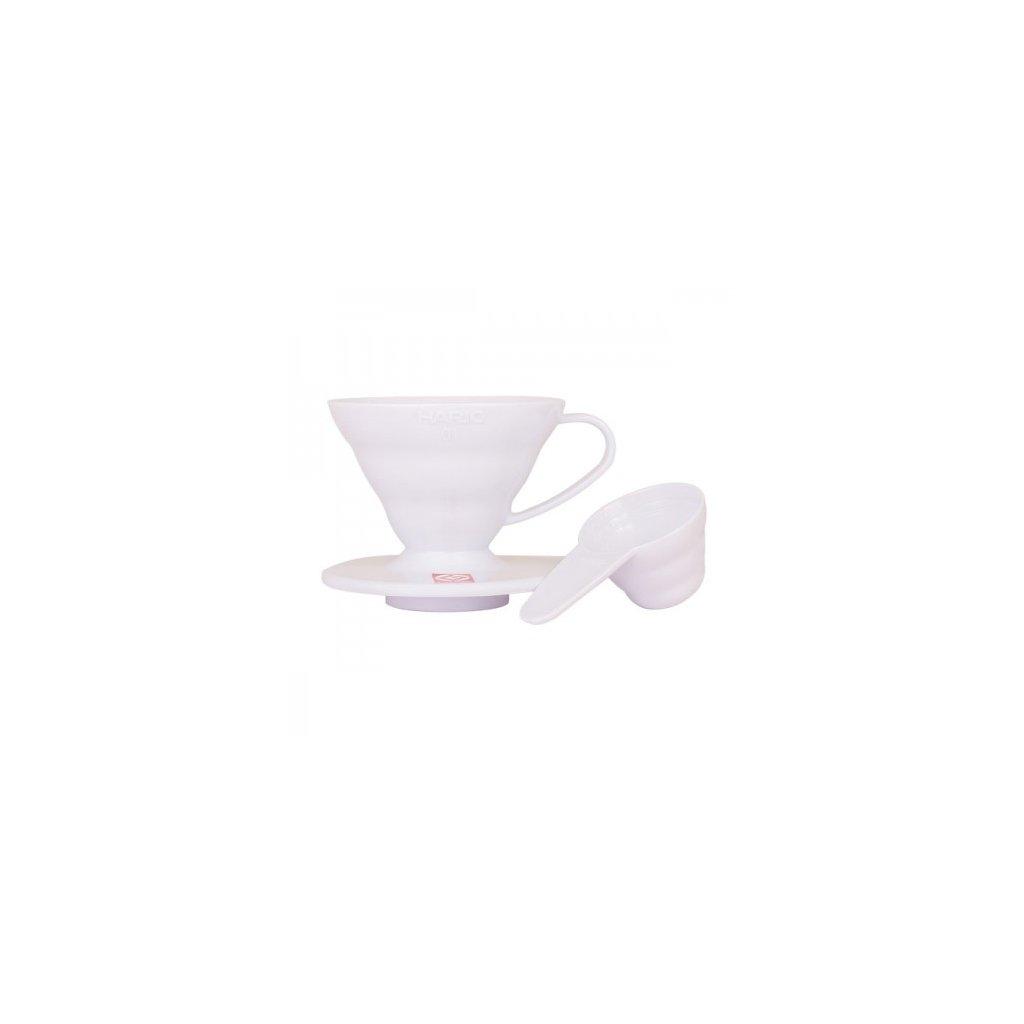 Dripper plastový - Hario V60-01 (bílý)