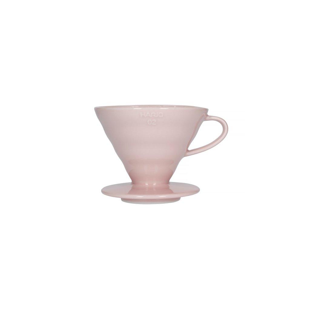 Dripper keramický - Hario V60-02 (růžový)