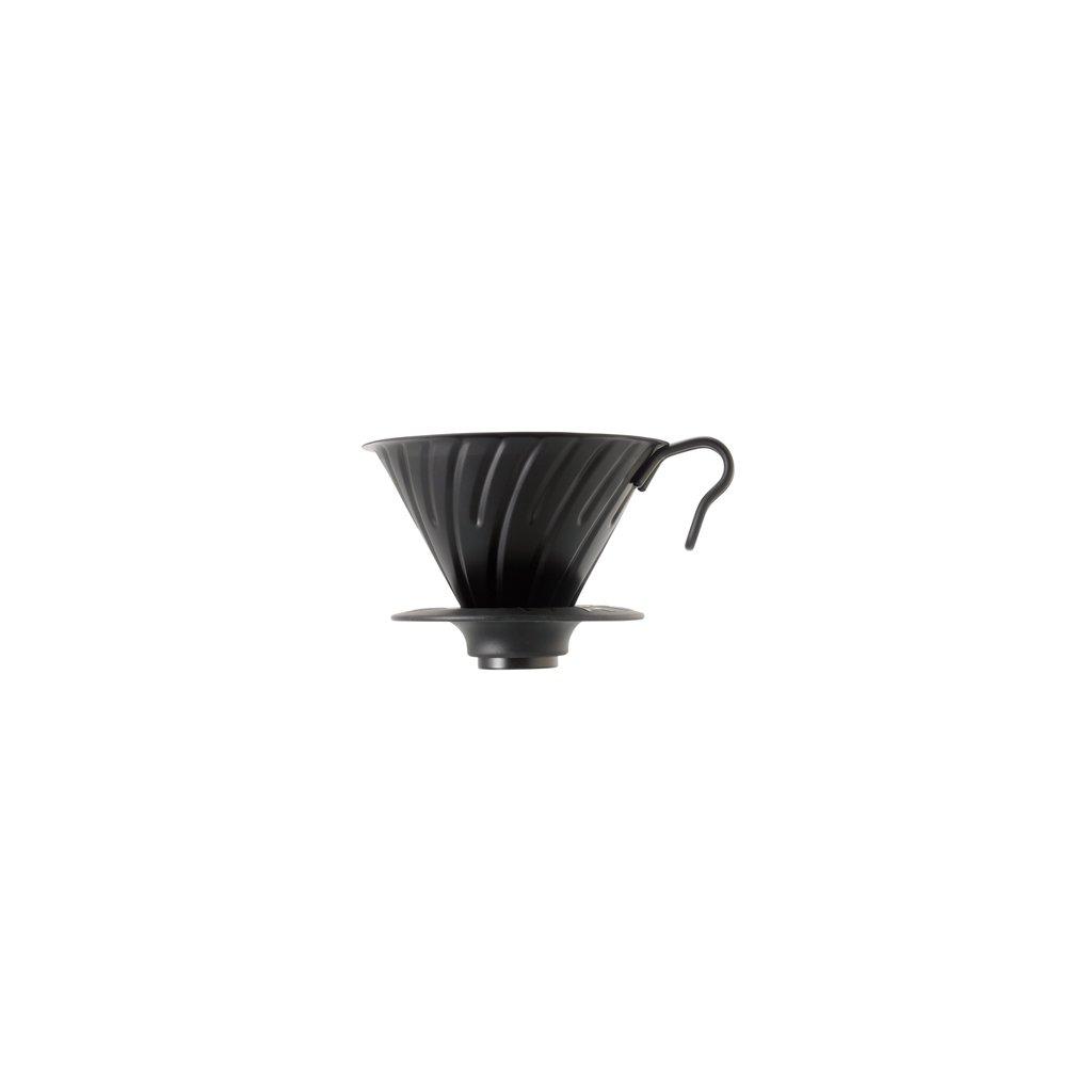 Dripper ocelový - Hario V60-02 (matný černý)