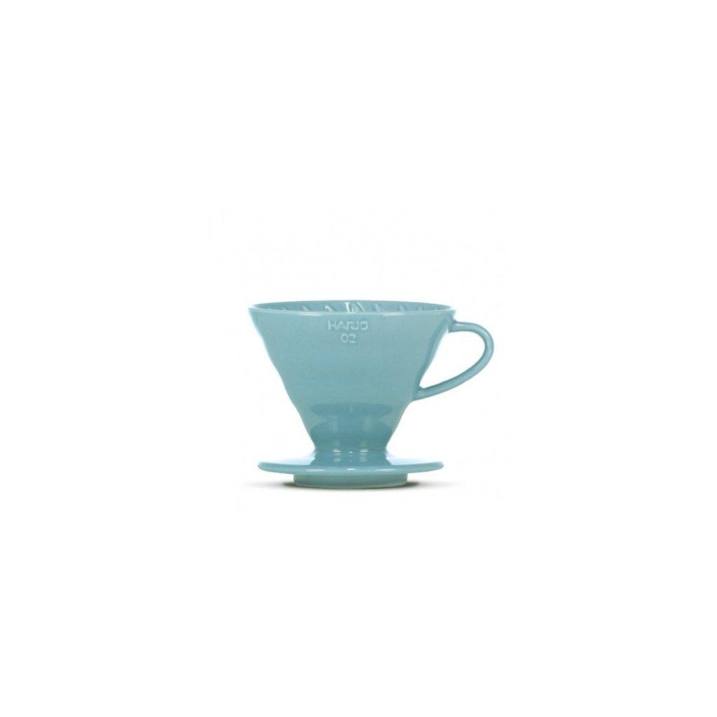 Dripper keramický - Hario V60-02 (modrý) + 40 ks filtrů