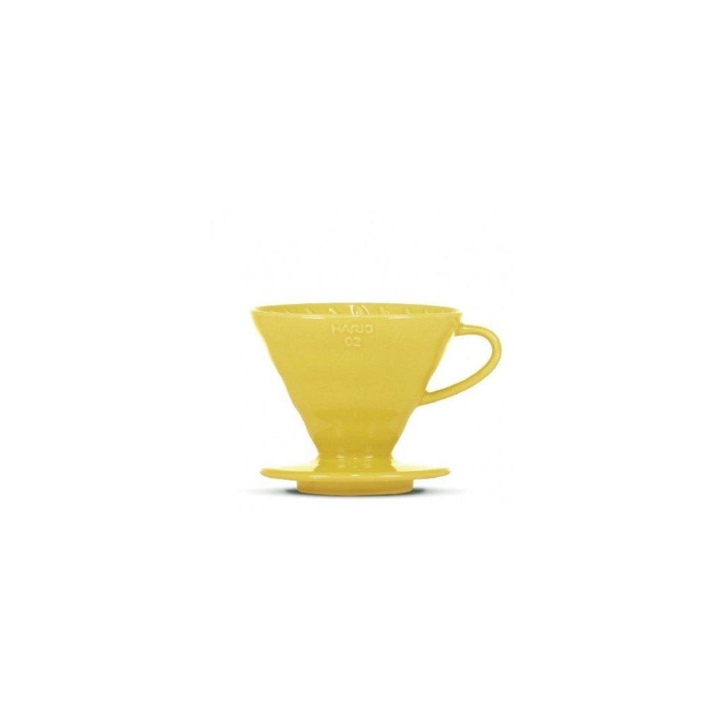 Dripper keramický - Hario V60-02 (žlutý) + 40 ks filtrů