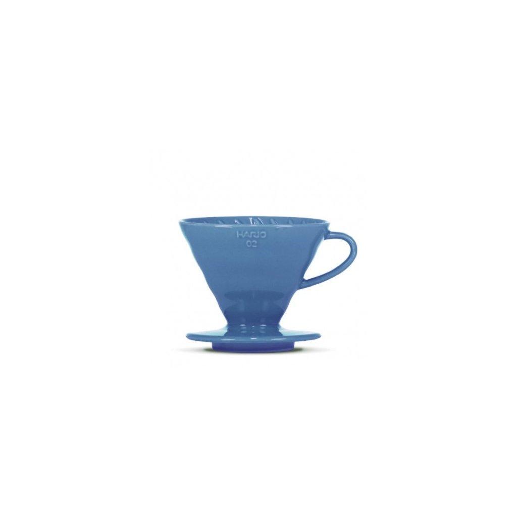 Dripper keramický - Hario V60-02 (tyrkysově modrý) + 40 ks filtrů