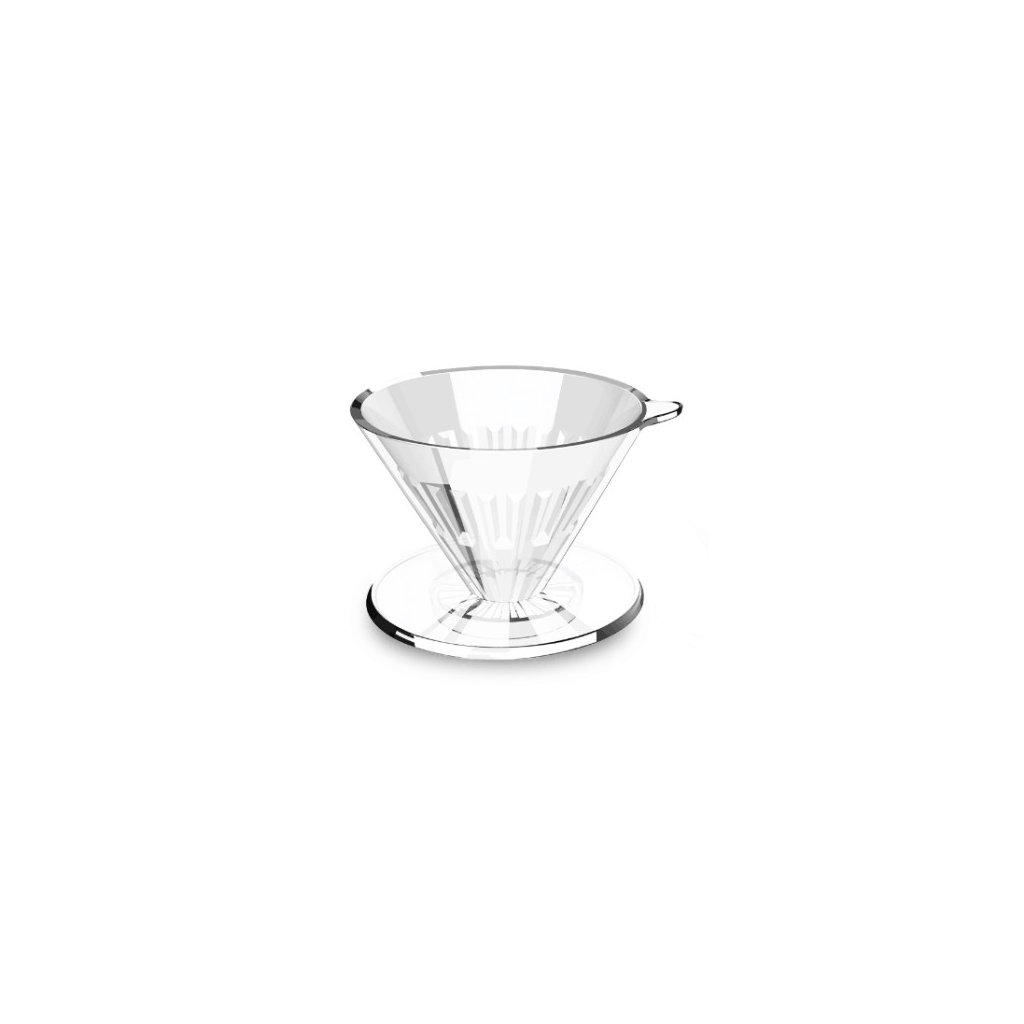Plastový dripper - Timemore Crystal Eye 01 (čirý)