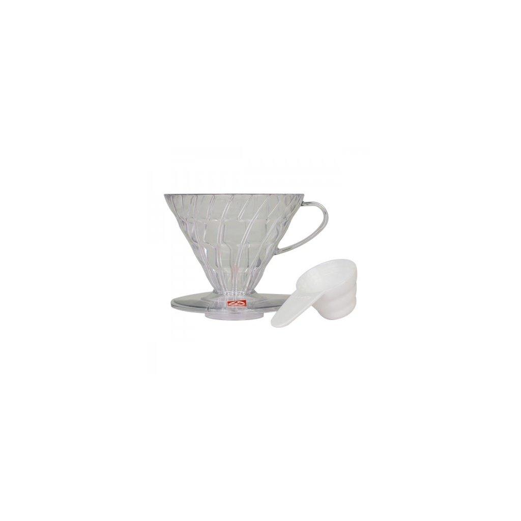 Dripper plastový - Hario V60-02 (čirý)