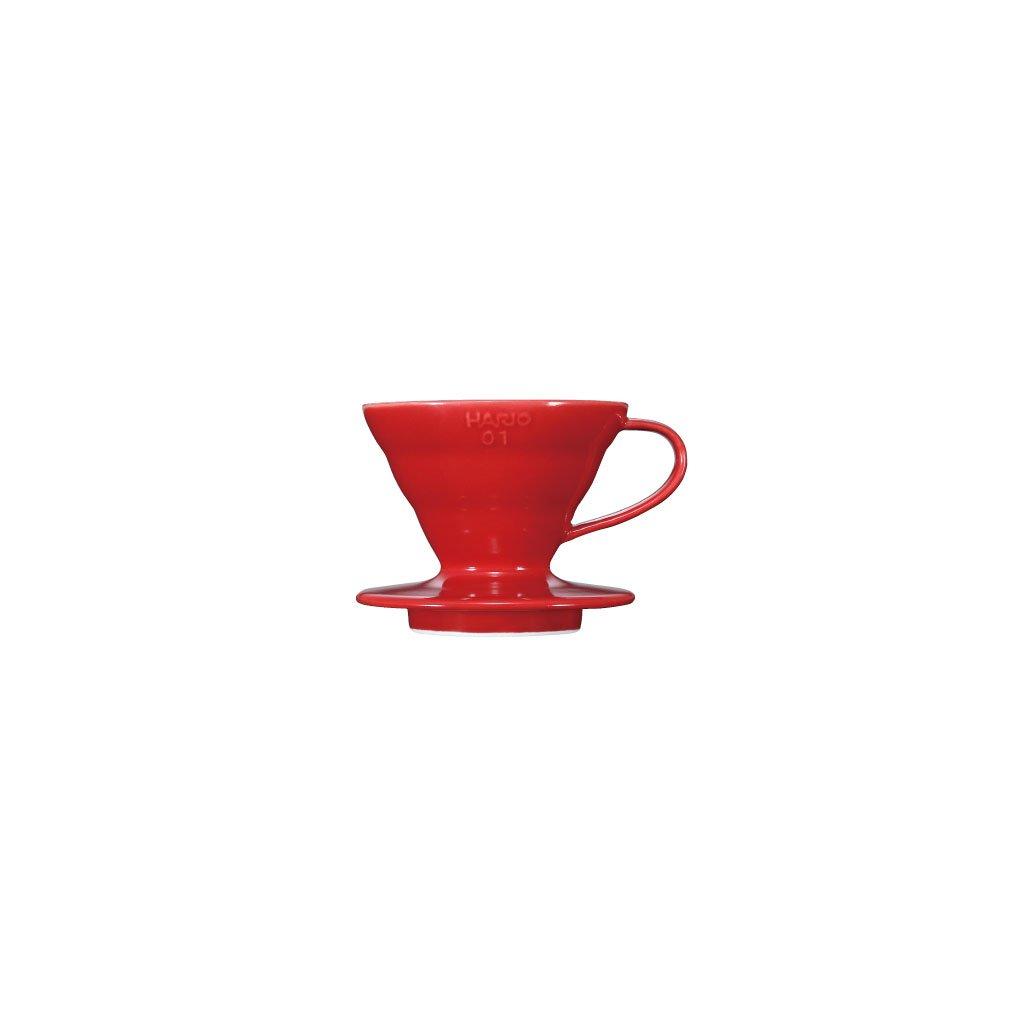 Dripper keramický - Hario V60-01 (červený)