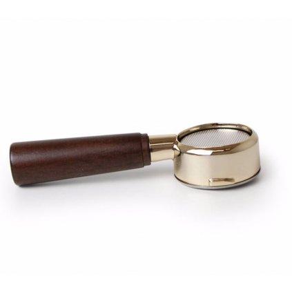 La Pavoni - nahá páka zlatá ve dřevě