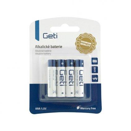 Baterie AAA (R03) alkalická 1,5V 4ks
