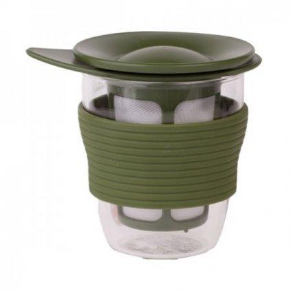 Hrnek na čaj se sítkem - Hario 200 ml (zelený)