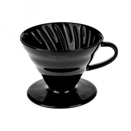 Dripper keramický - Hario Kasuya V60-02 (černý)