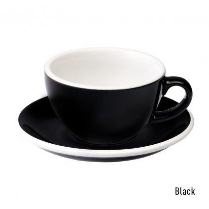 Cappuccino šálek - Loveramics Egg 200 ml (black)