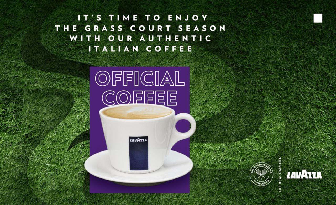Tenisový Wimbledon pije už 10 rokov kávu Lavazza