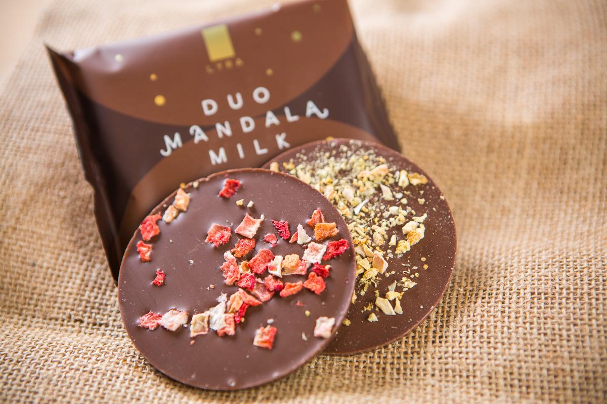 čokoláda Lyra Duo mandala milk coffeeport