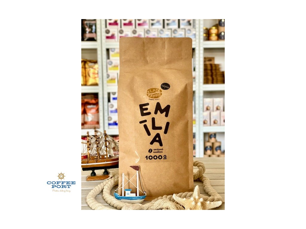 Zrnková káva Emília Zlaté Zrnko