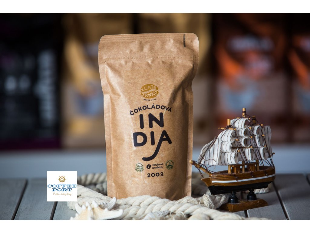 zrnkova kava zlate zrnko india coffeeport 007