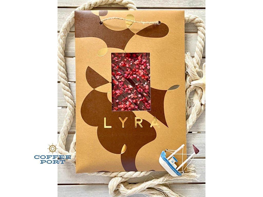 Lyra čokoláda Premium Dark s posypom