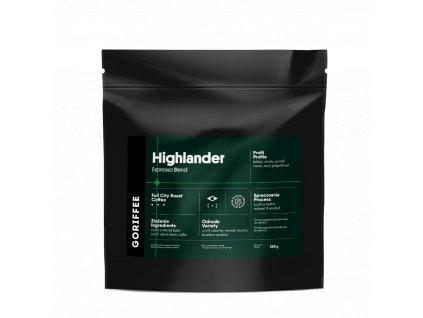 Goriffee Highlander Espresso Blend zrnková káva 250 g
