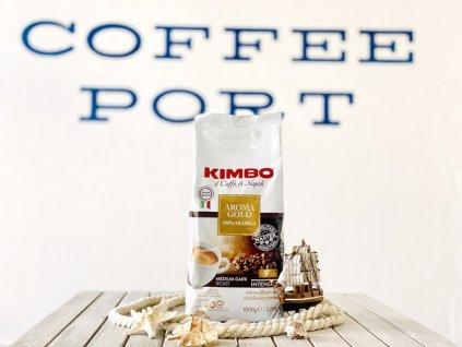 Zrnková káva Kimbo Aroma Gold Arabica new 2