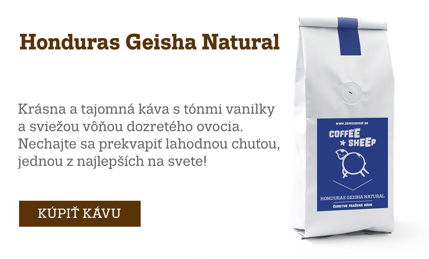Káva Honduras Geisha Natural