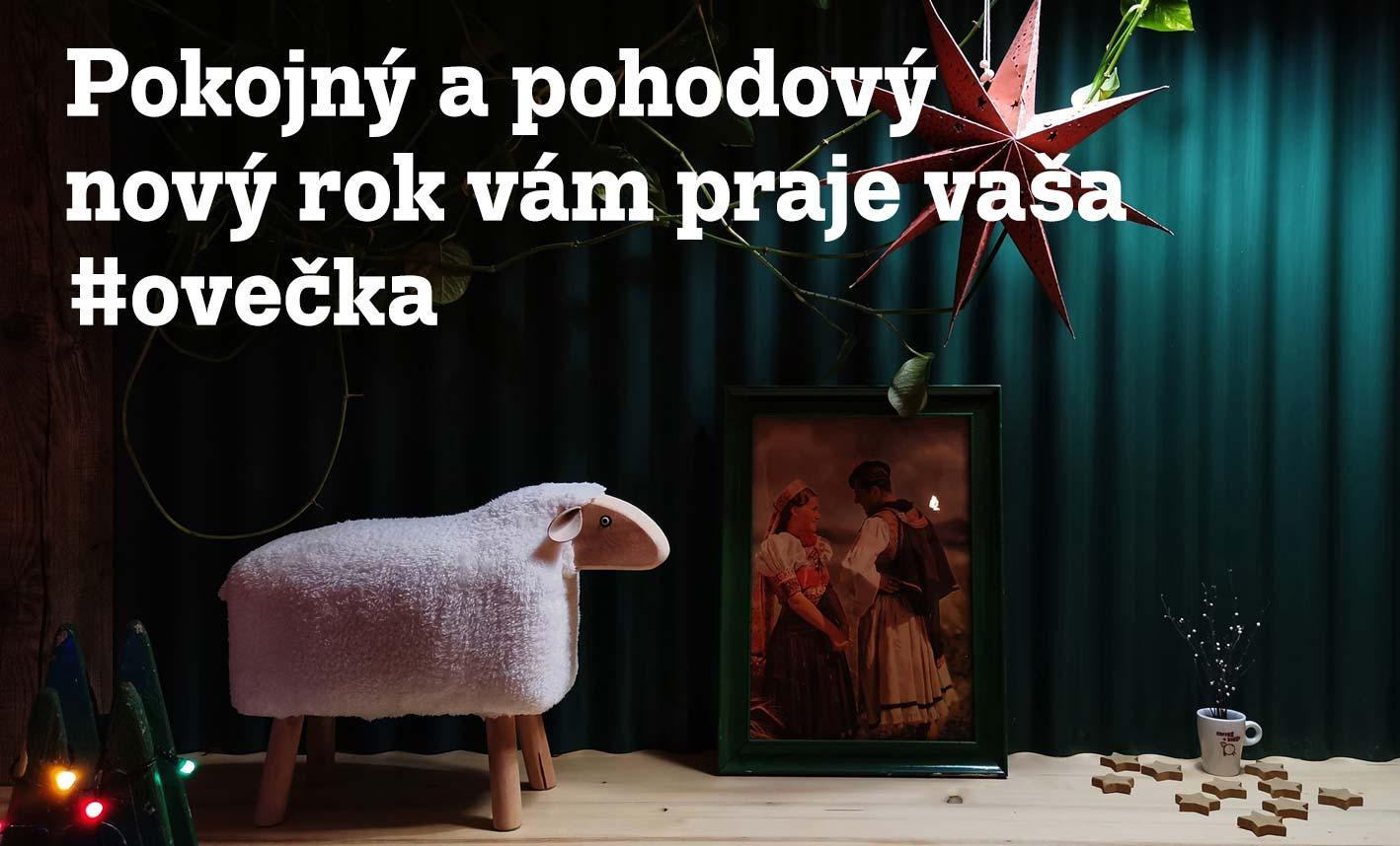 Pokojný a pohodový nový rok vám praje vaša #ovečka