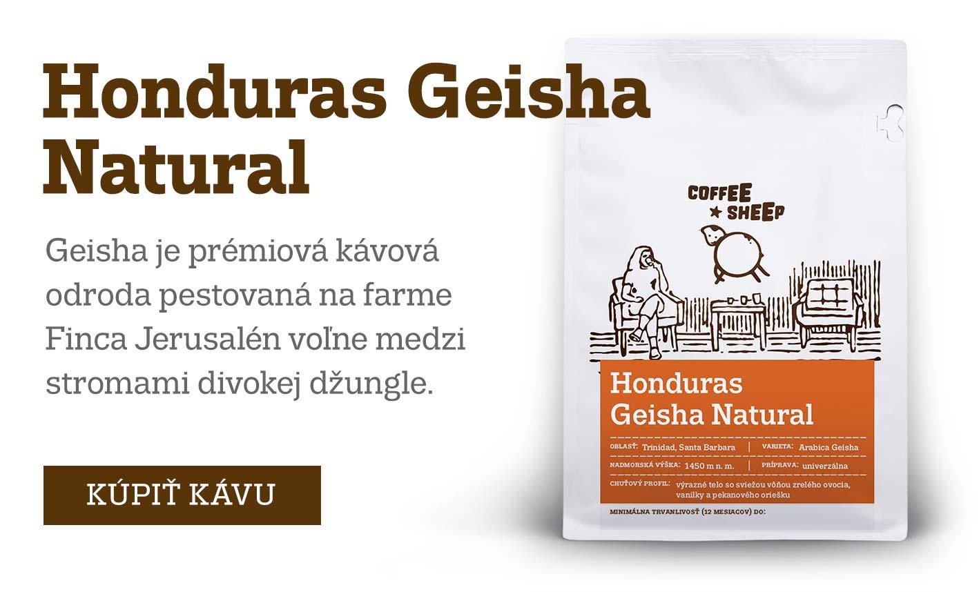 Honduras Geisha Natural - prémiová káva / limitovaná edícia