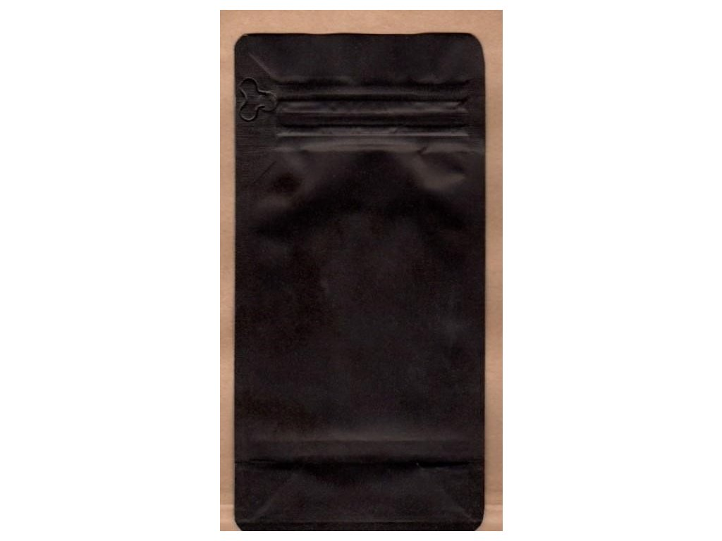 Vrecká na kávu čierne, zip. 125 g