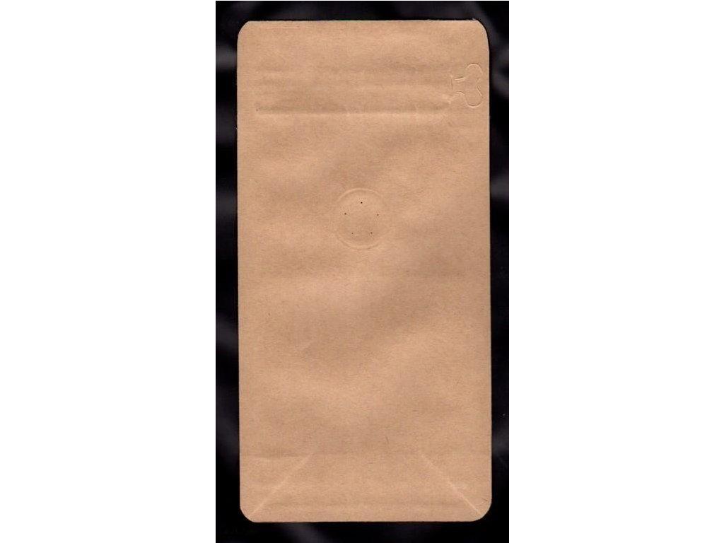 Vrecká na kávu hnedé, zip + ventil 125 g