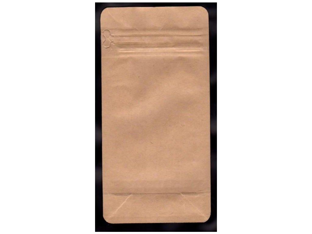 Vrecká na kávu hnedé, zip 125 g